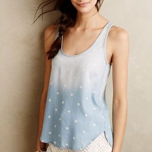 Anthropologie Tops - Chambray Scoop Tank